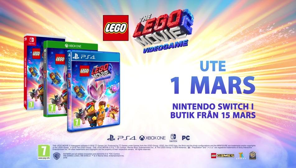 Officiell lanseringstrailer för LEGO® FILMEN 2™ spelet